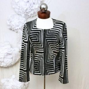 JOSEPH RIBKOFF metallic geometric chain jacket 8